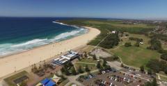 Maroubra Beach Drone Stock Footage