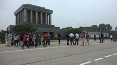 Important historic monument, Ho Chi Minh mausoleum in Hanoi, Vietnam Stock Footage