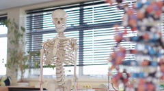4K Educational equipment in school science classroom. No people.  - stock footage