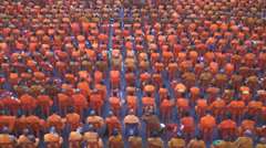 Group of Buddhist monks Stock Footage
