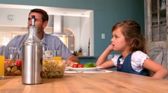 Stock Video Footage of Family having dinner together