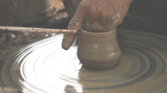 Earthenware, pottery-making Stock Footage