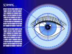 Iris scanner concept Stock Illustration