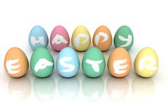 Easter Eggs on white - Stock image - stock photo