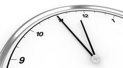 Clock shows five before twelve Stock Illustration