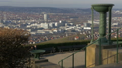 Stuttgart seen from Württemberg Hill, Germany Stock Footage