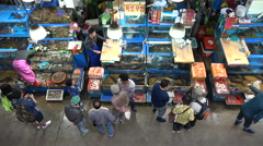 Fresh fish for sale at a wholesale market in Seoul, South Korea, Asia Stock Footage