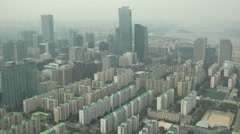 Office towers, residential apartments, business area in South Seoul, Korea Stock Footage