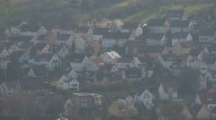 Stuttgart's crowded houses seen from Württemberg Hill in Germany Stock Footage