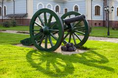 Old cannon with kernels Stock Photos