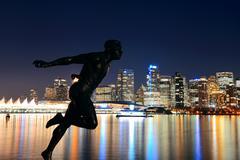 Vancouver at night Kuvituskuvat