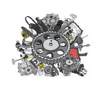 Many images of spare parts Stock Illustration