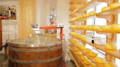 A machine for mixing ingredients for cheese Stock Footage