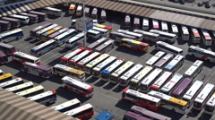 Intercity express bus station terminal Seoul, South Korea transportation Stock Footage