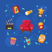 Cinema Design Elements and Icons - stock illustration