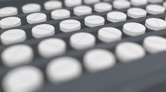 Pills on the assembly line Stock Footage