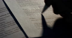 Legal court paper contract document signing agreement Stock Footage