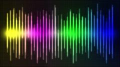 Sound Wave Music Graphics Rainbow - stock footage