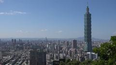 Taipei skyline Stock Footage