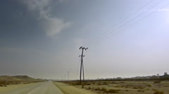 On Board Camera on a car in the countryside, Bahrain. Stock Footage
