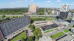 Aerial view of a city (Groningen, Netherlands) Stock Footage