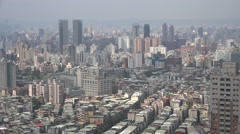 Residential apartment blocks and office towers in Taipei, Taiwan's capital city Stock Footage