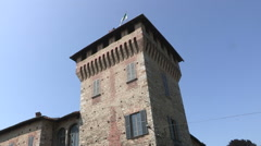 A medieval castle's tower Stock Footage