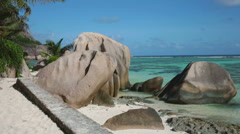 Beach at Seychelles - stock footage