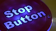 Flashing red stop button Stock Footage