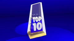 Top 10 Ten Award Prize Best List Review Ceremony - stock footage