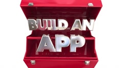 Build an App Toolbox Learn Software Programming Development Stock Footage