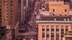 Busy New York traffic Streets High above Manhattan Timelapse - stock footage