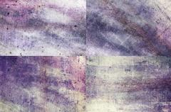 Purple colored grunge texture backgrounds - stock illustration