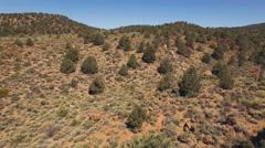 High Desert near Bodie Aerial Flying Slow Uphill over Ravine 4K Stock Footage