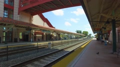 Hollywood tri-rail train depot Stock Footage