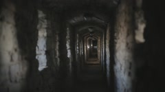Corridor of a old castle - stock footage