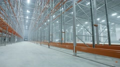 New modern light industrial warehouse Stock Footage