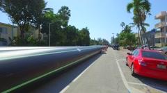 Miami Beach flood drainage - stock footage