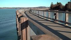 Boulevard Park Pier, Bellingham Bay.  Stock Footage