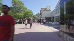 Lincoln Road promenade Stock Footage