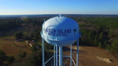 Beech Island SC Water Tower Flyover Stock Footage