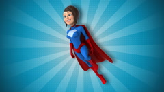 Super animated woman Stock Footage