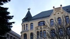 Cat house in Riga, Latvia - stock footage