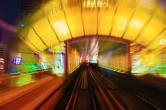 Abstraction metro subway tracks blur Stock Photos