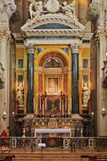 Main altar of baroque church Santa Maria della Vita - stock photo