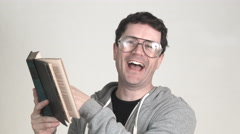 The Book Worm Stock Footage
