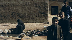 Iran 1973: children watching the camera Stock Footage