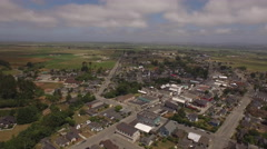 Ferndale Aerial Summer Cloudy 4K Stock Footage