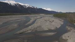 Tsirku River In Summer Aerial 4K Stock Footage