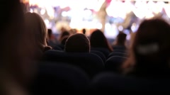 People Sitting in the Concert Hall - stock footage